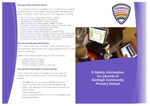 E-Safety Information for Parents